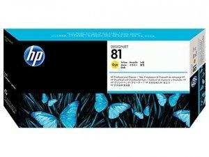 HP oryginalna głowica drukująca C4953A. No.81. yellow. HP DesignJet 5000. PS. UV. 5500. PS. UV C4953A