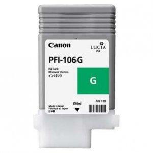 Canon oryginalny wkład atramentowy / tusz PFI106G. green. 130ml. 6628B001. ploter iPF-6300 6628B001
