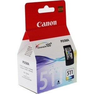 Canon oryginalny wkład atramentowy / tusz CL511. color. 245s. 9ml. 2972B010. 2972B004. blistr z ochroną. Canon MP240. MP260 2972B010