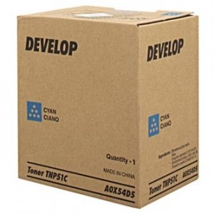 Develop oryginalny toner A0X54D5. cyan. 5000s. TNP51C. Develop Ineo +3110 A0X54D5