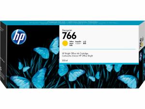 HP Atrament 766 300-ml Yellow Ink Crtg P2V91A