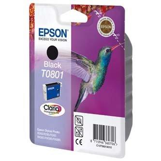 Epson oryginalny wkład atramentowy / tusz C13T08014011. black. 7.4ml. Epson Stylus Photo PX700W. 800FW. R265. 285. 360. RX560 C13T08014011