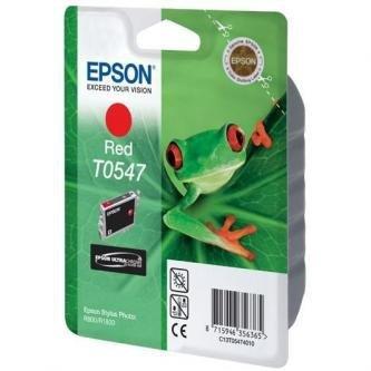 Epson oryginalny wkład atramentowy / tusz C13T054740. red. 400s. 13ml. Epson Stylus Photo R800. R1800 C13T05474010
