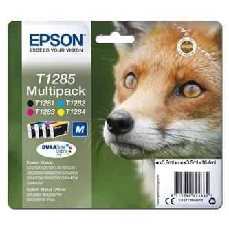 Epson oryginalny wkład atramentowy / tusz C13T12854012. T1285. CMYK. 16.4ml. Epson Stylus S22. SX125. 420W. 425W. Stylus Office BX305 C13T12854012