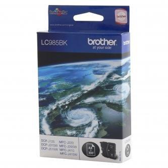 Brother oryginalny wkład atramentowy / tusz LC-985BK. black. 300s. Brother DCP-J315W LC985BK
