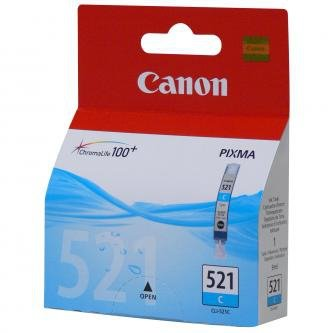 Canon oryginalny wkład atramentowy / tusz CLI521C. cyan. 505s. 9ml. 2934B001. Canon iP3600. iP4600. MP620. MP630. MP980 2934B001