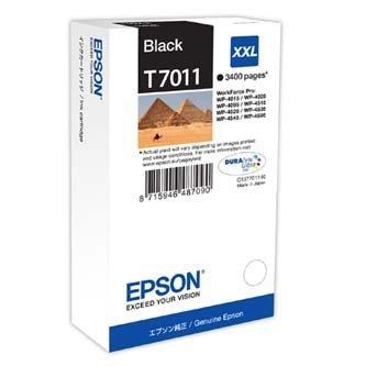 Epson oryginalny wkład atramentowy / tusz C13T70114010. XXL. black. 3400s. Epson WorkForce Pro WP4000. 4500 series C13T70114010