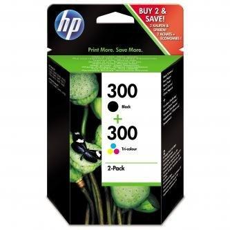 HP oryginalny wkład atramentowy / tusz CN637EE. No.300. black/color. 2 x 200s. 2x4ml. HP 2-pack. CC640EE a CC643EE. DeskJet D2560. F4280 CN637EE
