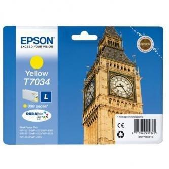 Epson oryginalny wkład atramentowy / tusz C13T70344010. L. yellow. 800s. Epson WorkForce Pro WP4000. 4500 series C13T70344010