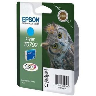 Epson oryginalny wkład atramentowy / tusz C13T079240. cyan. 11.1ml. Epson Stylus Photo 1400 C13T07924010