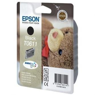 Epson oryginalny wkład atramentowy / tusz C13T06114010. black. 250s. 8ml. Epson Stylus D68PE. 88. DX3850. 4200. 4250. 4850