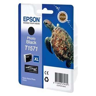 Epson oryginalny wkład atramentowy / tusz C13T15714010. photo black. 25.9ml. Epson Stylus Photo R3000