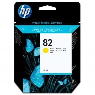 HP oryginalny wkład atramentowy / tusz C4913A. No.82. yellow. 69ml. HP DesignJet 500. PS. 800. 815. cc800ps. 4200 C4913A