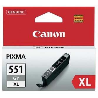 Canon oryginalny wkład atramentowy / tusz CLI551GY XL. grey. 11ml. 6447B001. high capacity. Canon PIXMA iP7250. MG5450. MG6350 6447B001