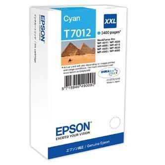 Epson oryginalny wkład atramentowy / tusz C13T70124010. XXL. cyan. 3400s. Epson WorkForce Pro WP4000. 4500 series C13T70124010
