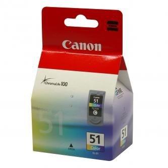 Canon oryginalny wkład atramentowy / tusz CL51. color. 330s. 3x7ml. 0618B001. Canon iP2200. iP6210D. MP150. MP170. MP450 0618B001