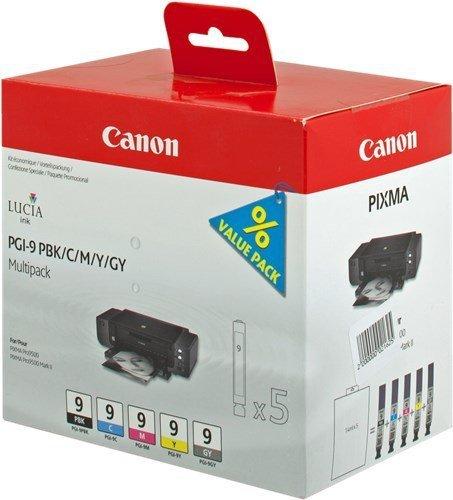 Canon oryginalny wkład atramentowy / tusz PGI9. PBK/C/M/Y/GY. 1034B013. 1034B011. Canon Pro9500 1034B013