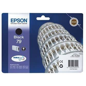 Epson oryginalny wkład atramentowy / tusz C13T79114010. 79. L. black. 900s. 14ml. 1szt. Epson WorkForce Pro WF-5620DWF. WF-5110DW. WF-5690DWF C13T79114010