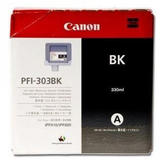 Canon oryginalny wkład atramentowy / tusz PFI303BK. black. 330ml. 2958B001. ploter iPF-810. 820 2958B001AA
