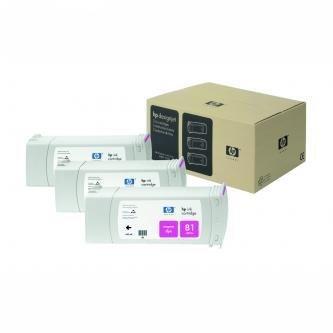 HP oryginalny wkład atramentowy / tusz C4932A. No.81. magenta. 680ml. HP DesignJet 5000. PS. UV. 5500. PS. UV C4932A