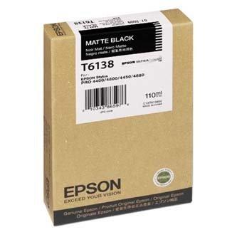 Epson oryginalny wkład atramentowy / tusz C13T613800. matte black. 110ml. Epson Stylus Pro 4400. 4450. 4800 C13T613800
