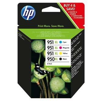 HP oryginalny wkład atramentowy / tusz C2P43AE. No.950XL + 951XL. cyan/magenta/yellow/black. 1500/2300s. 4szt. HP C2P43AE