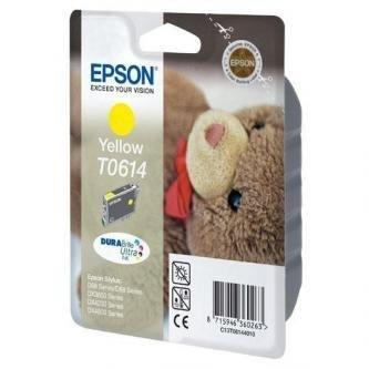 Epson oryginalny wkład atramentowy / tusz C13T06144010. yellow. 250s. 8ml. Epson Stylus D68PE. 88. DX3850. 4200. 4250. 4850
