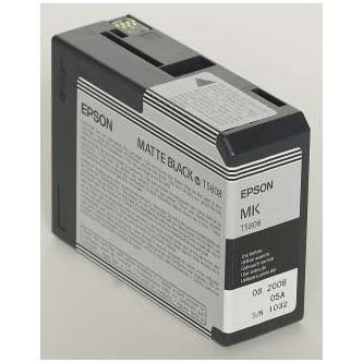 Epson oryginalny wkład atramentowy / tusz C13T580800. matte black. 80ml. Epson Stylus Pro 3800 C13T580800