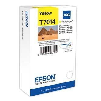 Epson oryginalny wkład atramentowy / tusz C13T70144010. XXL. yellow. 3400s. Epson WorkForce Pro WP4000. 4500 series C13T70144010