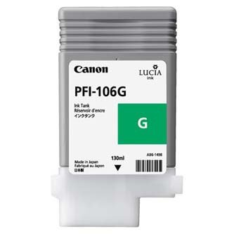 Canon oryginalny wkład atramentowy / tusz PFI106G. green. 130ml. 6628B001. ploter iPF-6300