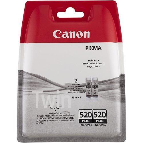 Canon oryginalny wkład atramentowy / tusz PGI520BK. black. 2x420s. 2x19ml. 2932B012. 2932B009. blistr. 2szt. Canon Pixma iP3600. iP4600 2932B012
