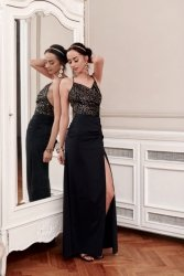 Sukienka 0269 Złota Roco Fashion