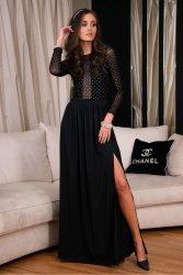 Sukienka 0272 Czarna Roco Fashion