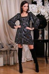 Sukienka 0266 Srebrna Roco Fashion