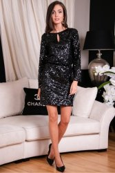 Sukienka 0267 Czarna Roco Fashion