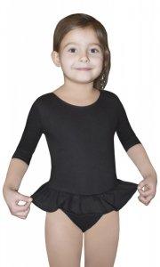 BODYSUIT GIRLS ¾ SLEEVE LEOTARD WITH SHORT FRILL body gimnastyczne