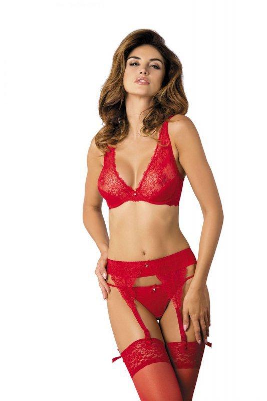 Scarlet/MS mini-stringi czerwony