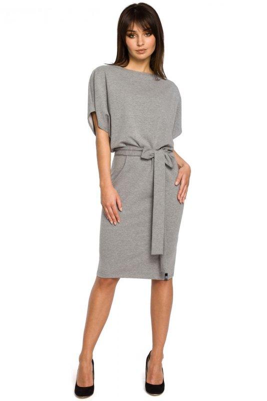 B058 sukienka szara