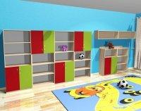 Zestaw szafek przedszkolnych nr 16