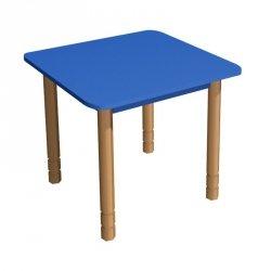 Stolik przedszkolny drewniany kwadratowy z regulacją wysokości