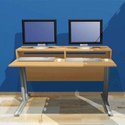 Biurko komputerowe 2-osobowe