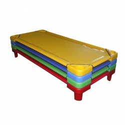 Leżak przedszkolny niebieski