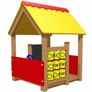 Domek edukacyjny na plac zabaw
