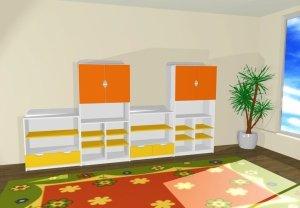 Zestaw szafek przedszkolnych nr 4