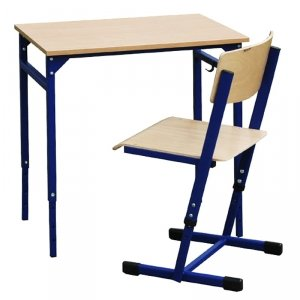 Zestaw-stół leon z reg.wys.3-7 z krzesłem Reks z reg. wys.5-6