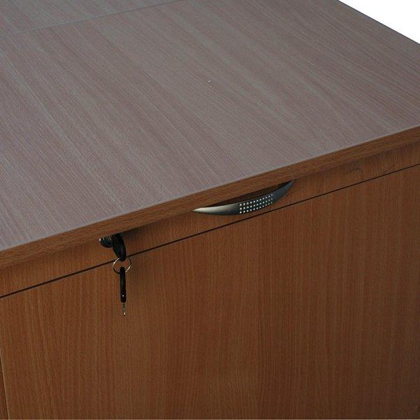 lada biblioteczna d z szafką na komputer