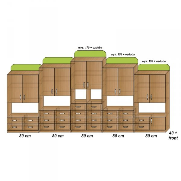 zestaw mebli przedszkolnych,meble przedszkolne,meble do przedszkola,szafki przedszkolne,szafki do przedszkola