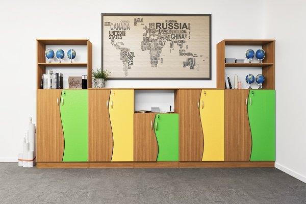 zestaw szafek szkolnych nr 14, szafki do szkół, szkolne szafki, szafy szkolne, wyposażenie szkolne