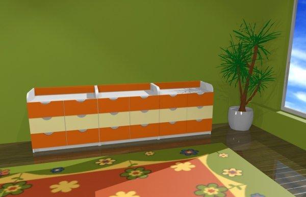 Zestaw mebli przedszkolnych, meble przedszkolne, zestaw szafek do przedszkola, szafki przedszkolne, zestaw szafek przedszkolnych nr 2