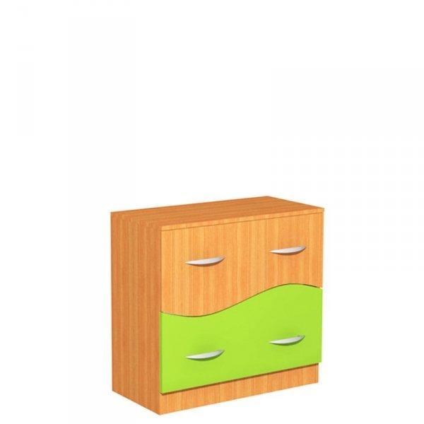 Regał szkolny z szufladami Fala 34, szer. 800 mm